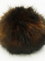 Wild Wild Wool Pompon 10 cm Dark Brown