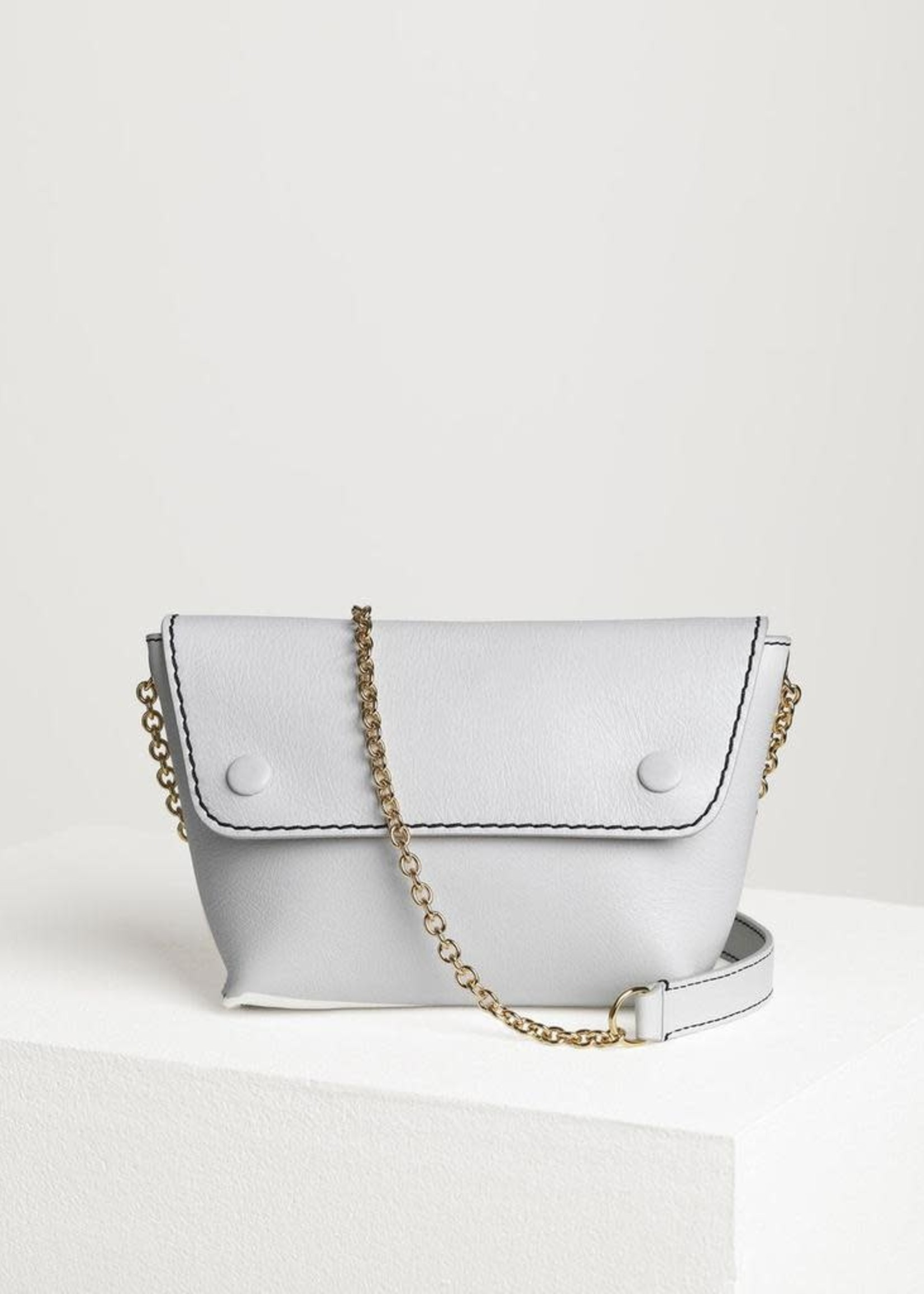 BY MALENE BIRGER WHITE COW LEATHER BAG