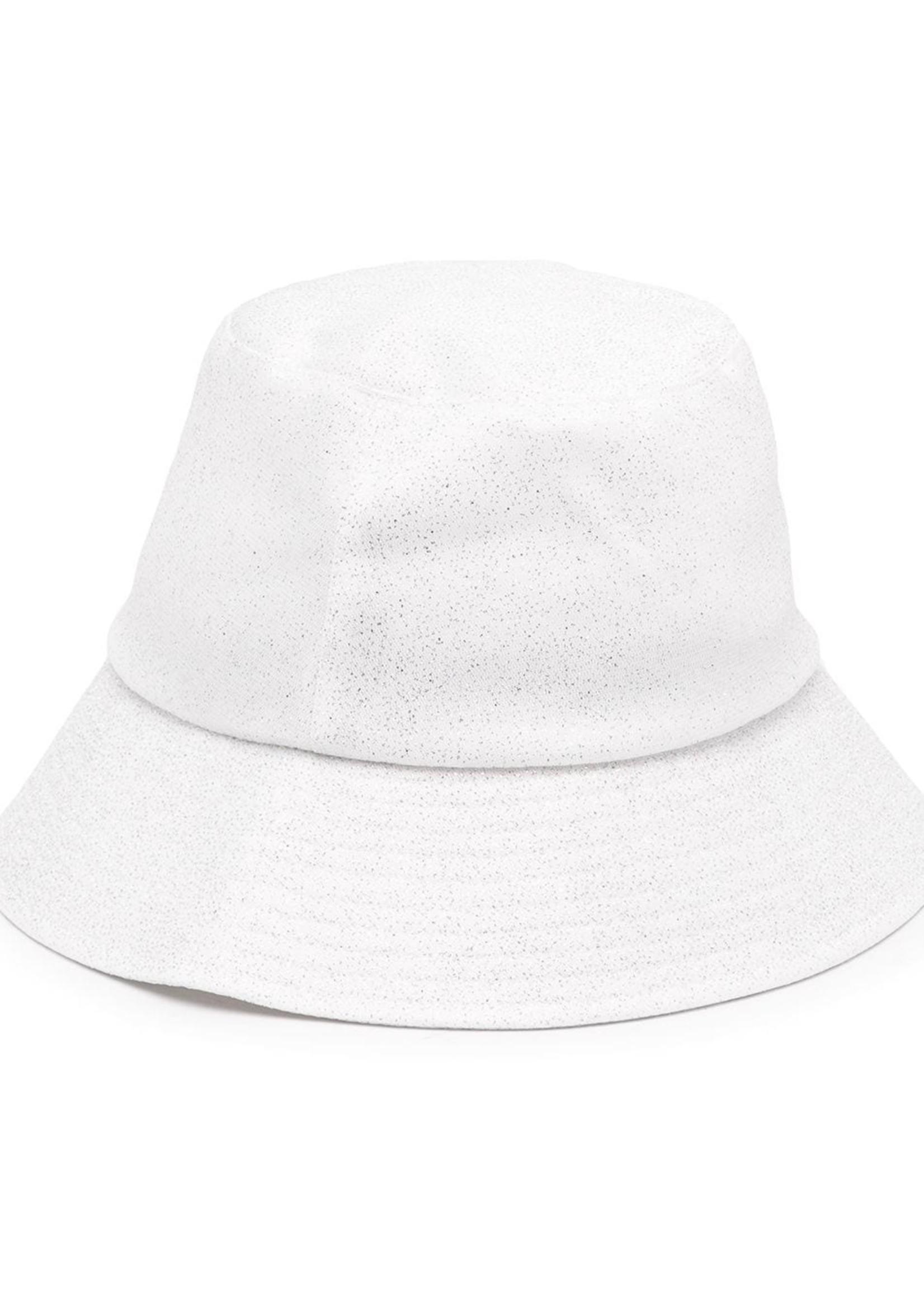EUGENIA KIM THE TOBY BUCKET HAT IN WHITE SPARKLE - EUGEINA KIM