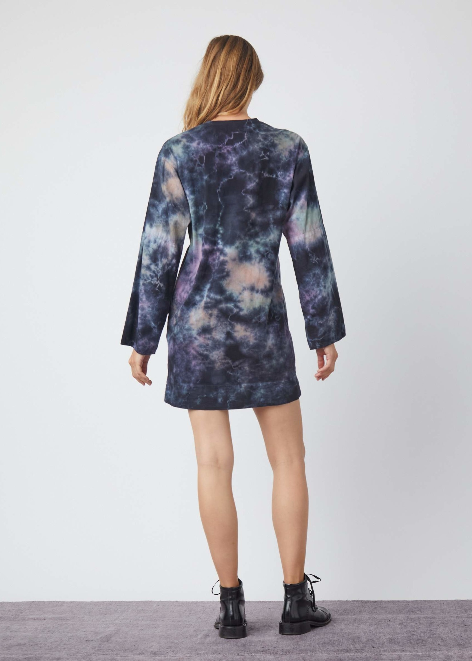 RAQUEL ALLEGRA PHOEBE SLEEVE SHIFT DRESS