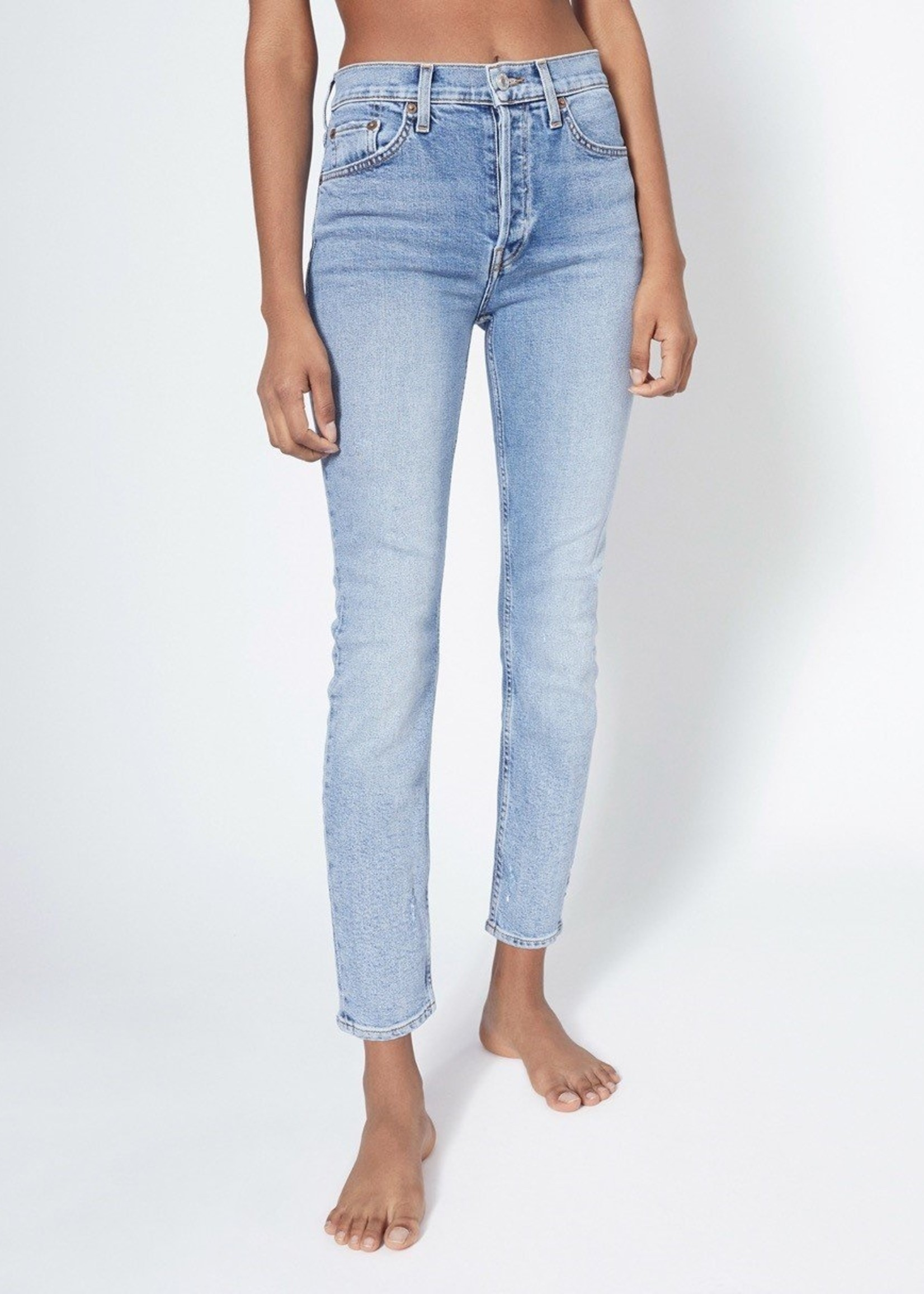 REDONE 90S HIGH RISE ANKLE CROP