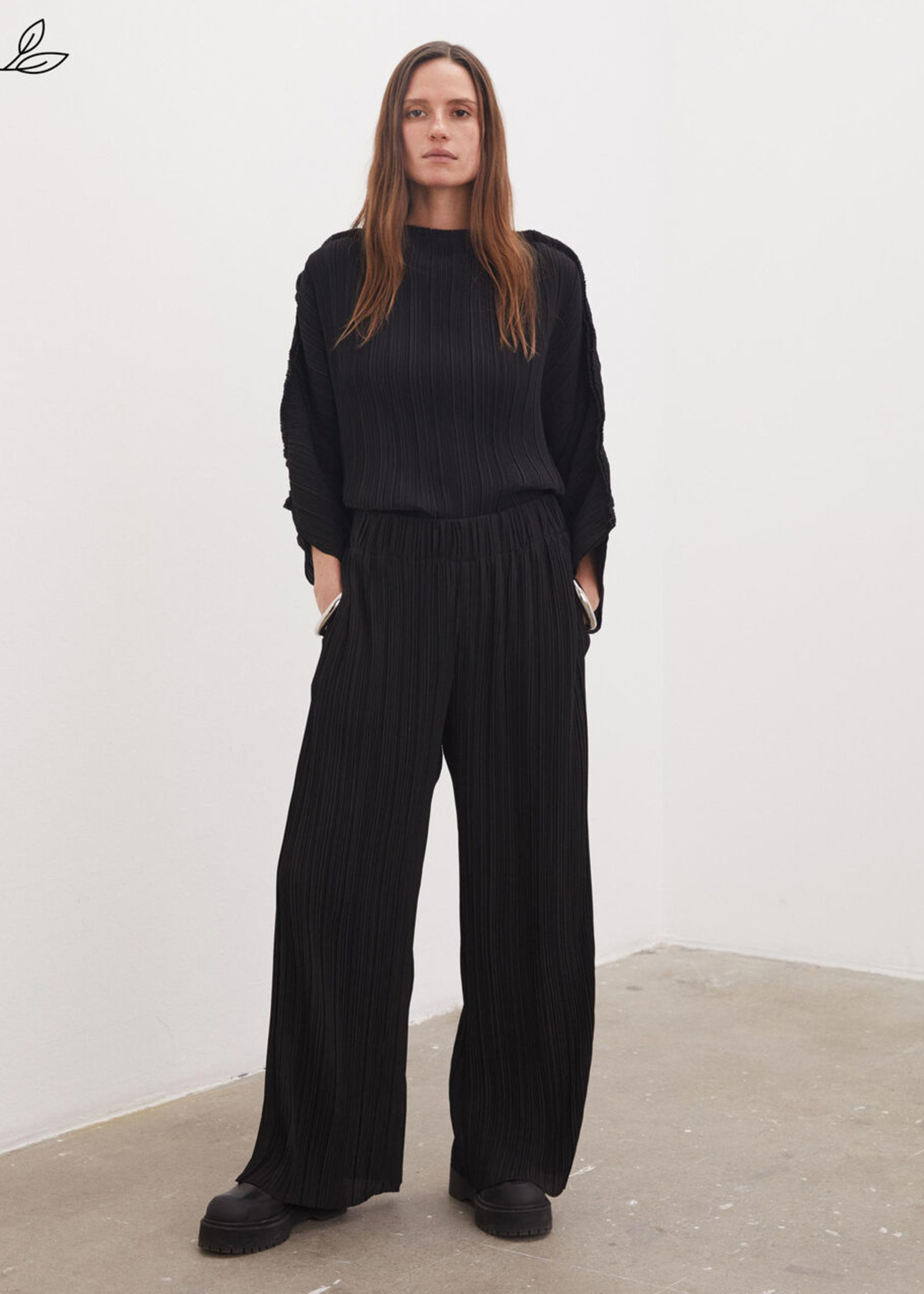 BY MALENE BIRGER LETITA RECYCLED PLISSE PANT