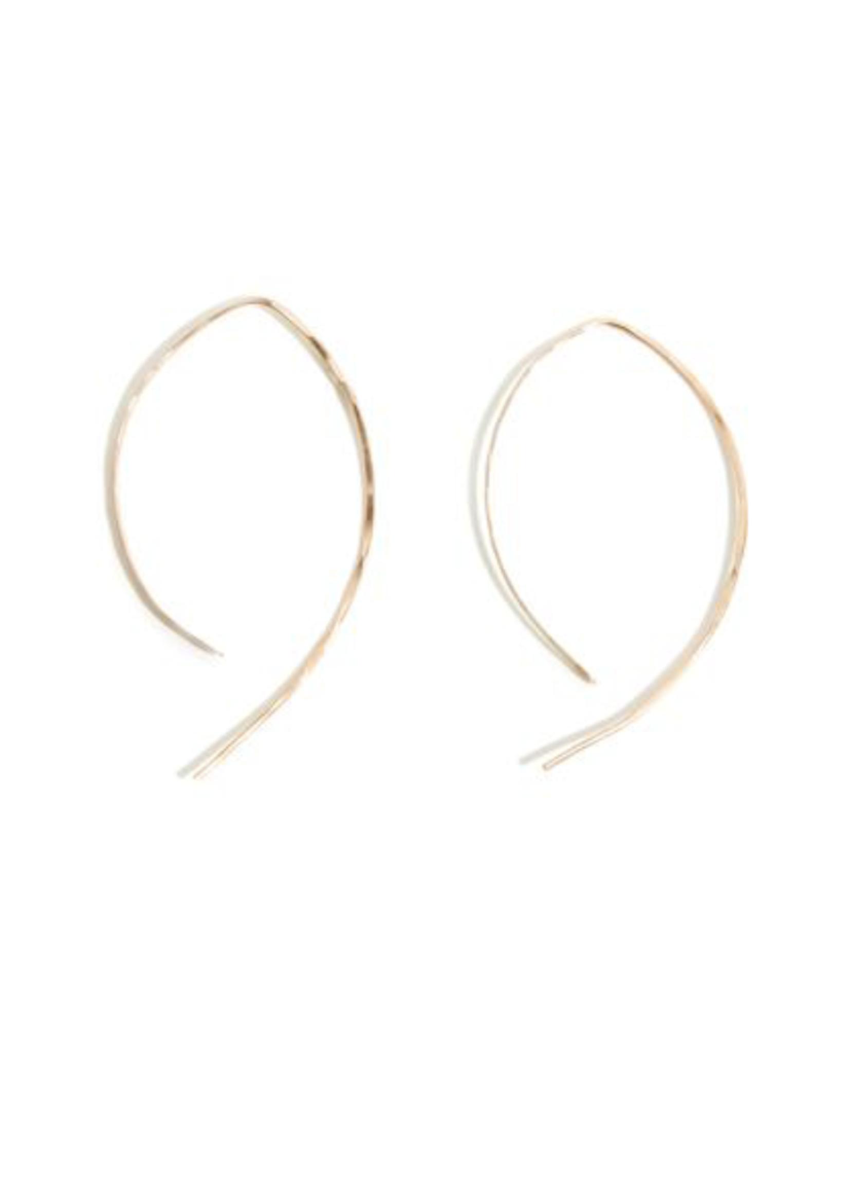 MELISSA JOY MANNING 14K GOLD WISHBONE EARRINGS