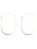 MELISSA JOY MANNING 14 KARAT YELLOW GOLD EXTRA LARGE OVAL HOOP