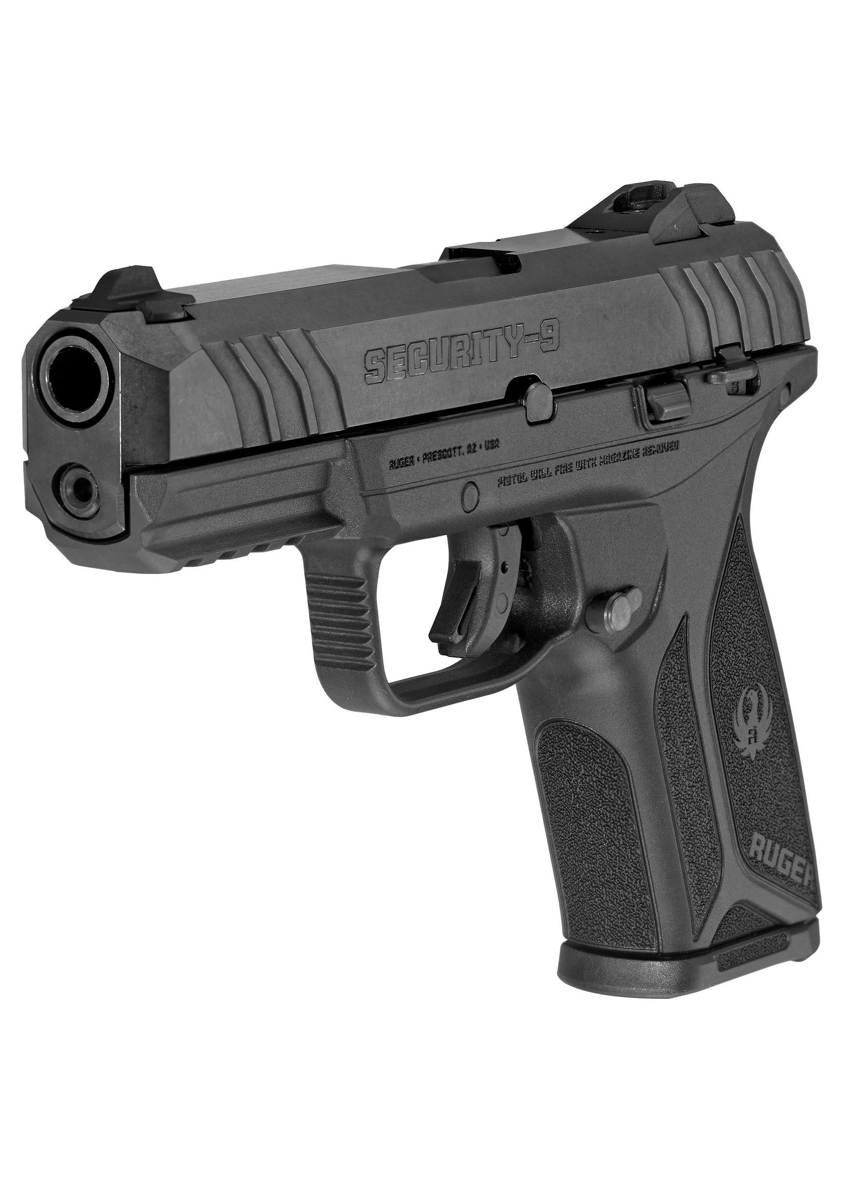 """Ruger Ruger Security 9 Pistol, 9mm, 4"""", 15+1 Black"""