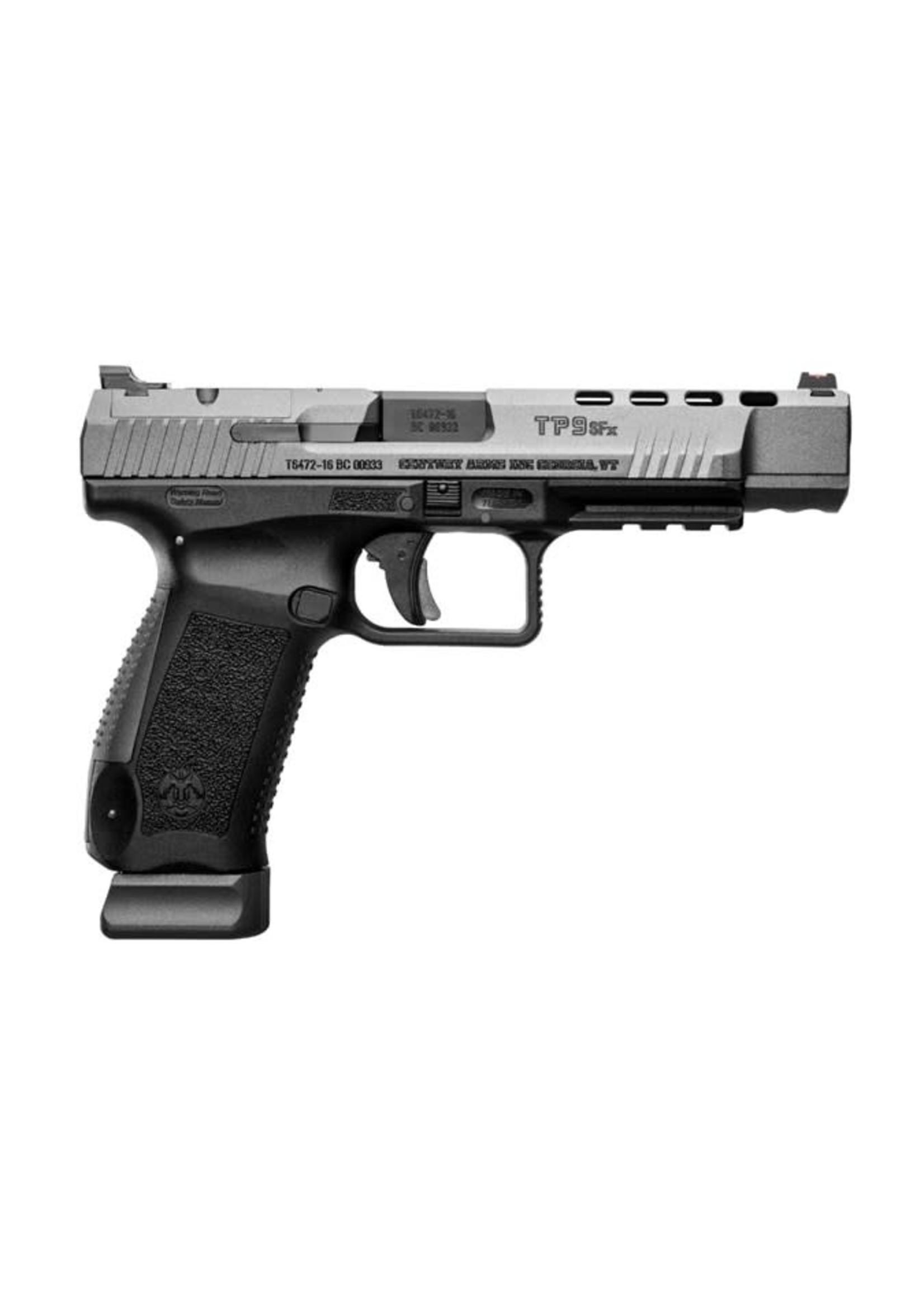 "Canik Canik TP9SFX Pistol, 9mm, Black/Tungsten Gray, 20+1, 5"""
