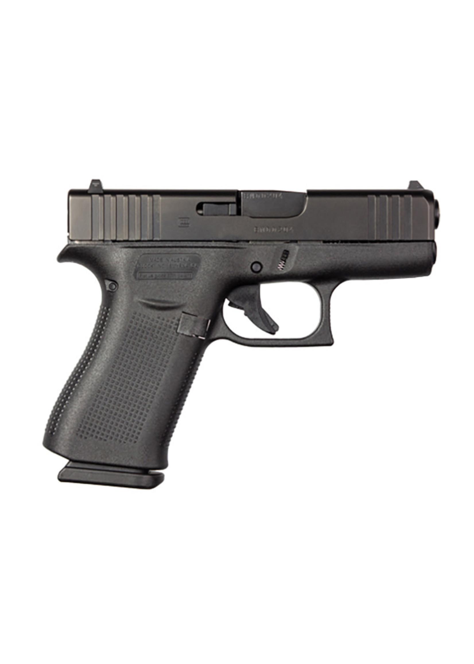 """Glock Glock 43X Pistol, 9mm, 3.39"""" Barrel, Fixed Sights, Black, 10-rd"""