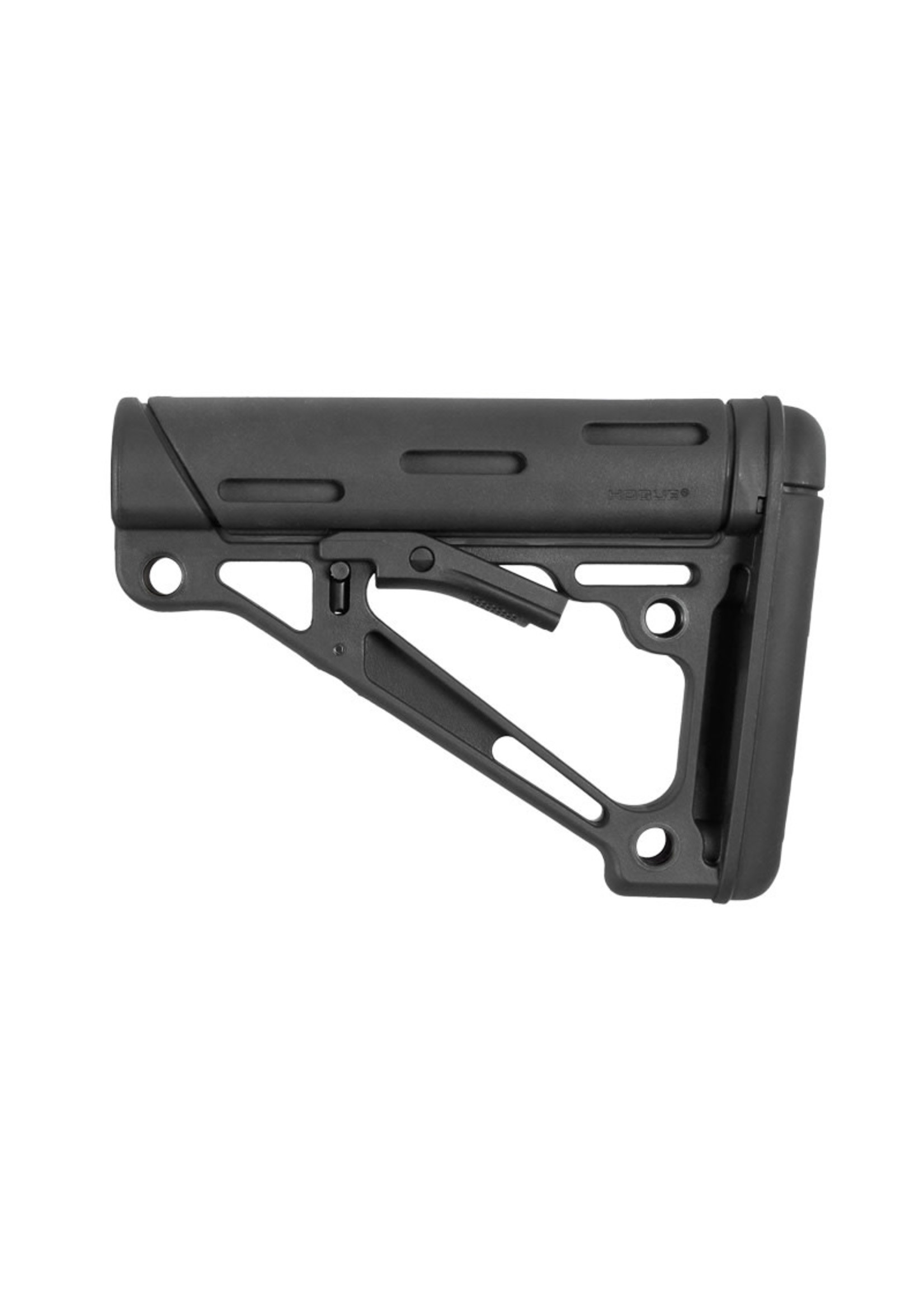 Hogue Hogue AR-15 / M16: OverMolded Collapsible Buttstock (Fits Mil-Spec Buffer Tube) - Black