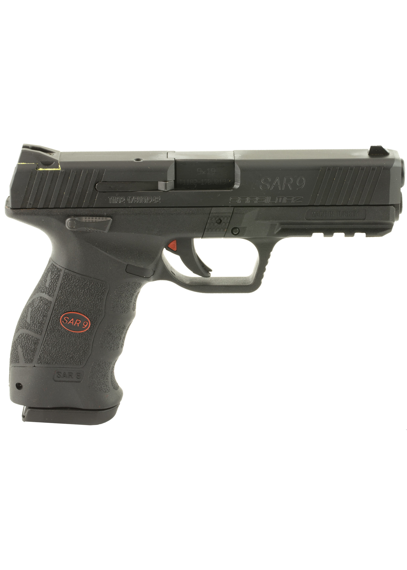 "SAR SAR USA, SAR9, Semi-automatic, Striker Fired Pistol, 9MM, 4.4"" Barrel, Polymer Frame, Black Finish, 17Rd, 2 Magazines"