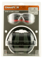 Champion Shooting Gear Champion Shooting Gear Eyes And Ears Combo, 26 dB,Over the Head, Black