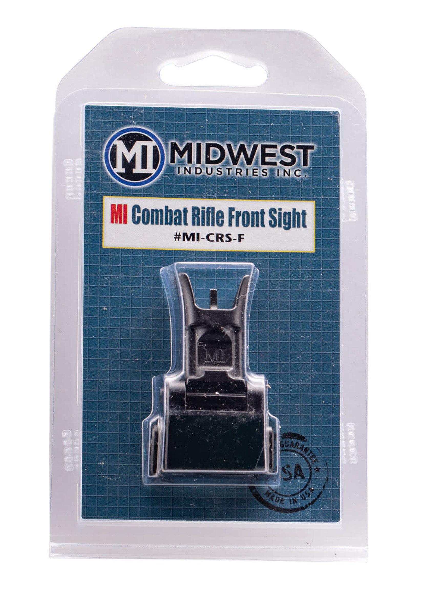Midwest Industries Midwest Industries MICRSF Combat Rifle Front Sight AR-15, M4, M16 Black Hardcoat Anodized Flip Up Steel/Aluminum