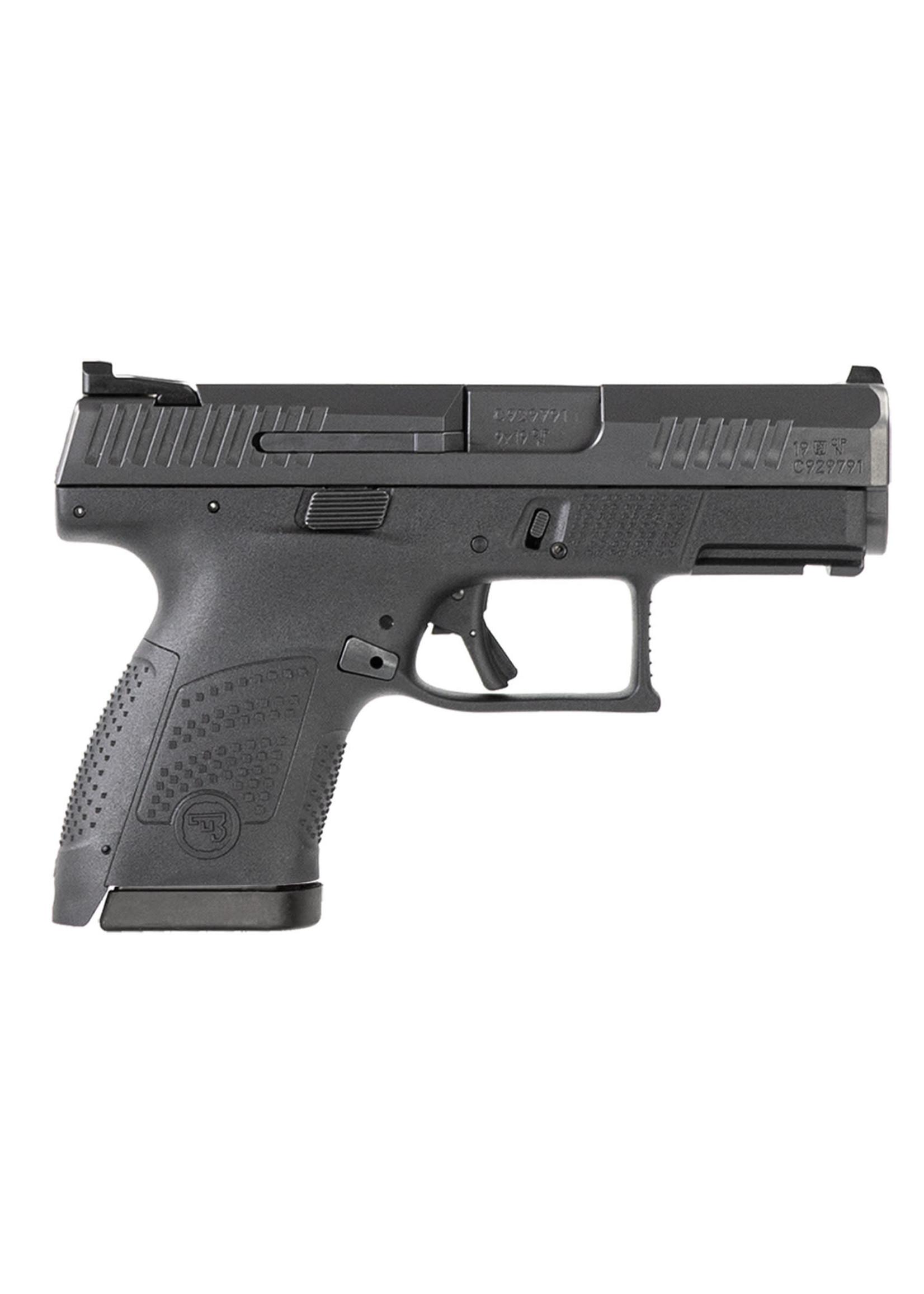 "CZ USA CZ 91560 P-10 S 9mm Luger 3.50"" 12+1 Black Black Steel Slide Black Interchangeable Backstrap Grip Reversible Mag Release"