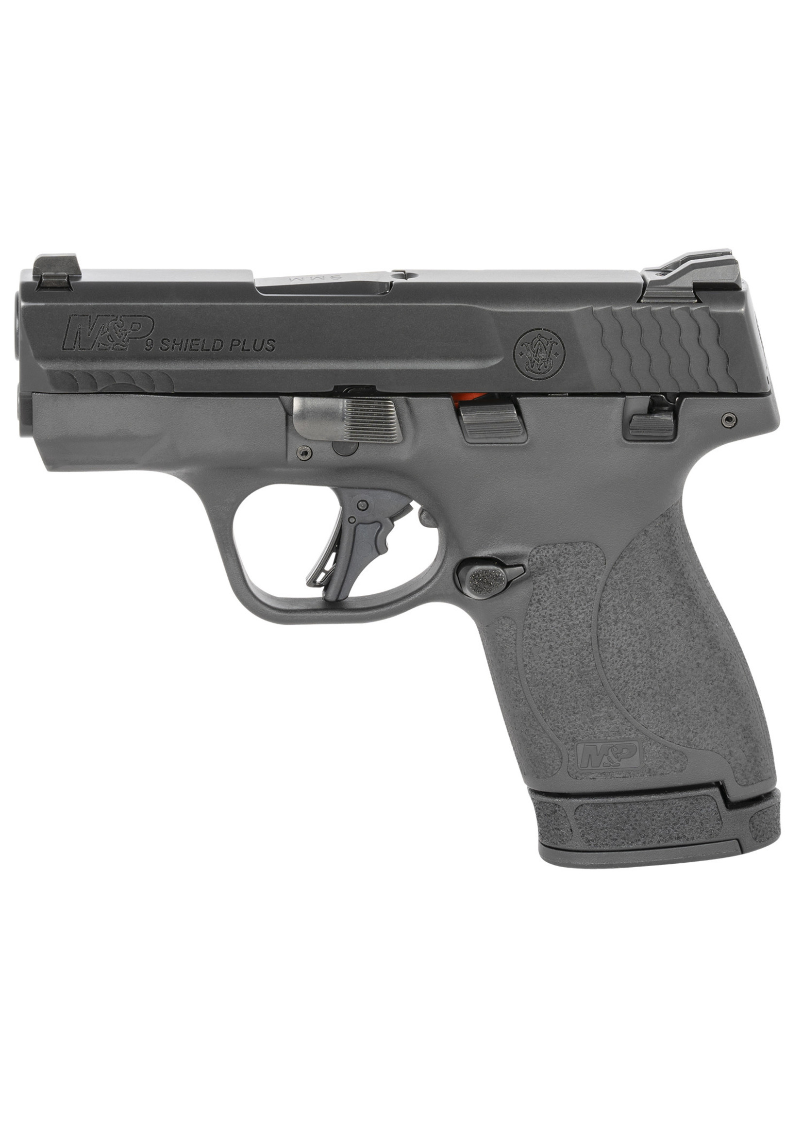 """Smith and Wesson (S&W) Smith & Wesson M&P Shield Plus, 9mm, 3.10"""" 10+1, 13+1, Matte Black Armornite Stainless Steel Slide, manual safety"""