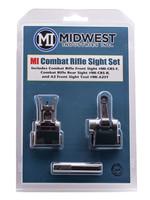 Midwest Industries Midwest Industries Combat Rifle Sight Set AR-15, M4, M16 Black Hardcoat Anodized Flip Up Steel/Aluminum