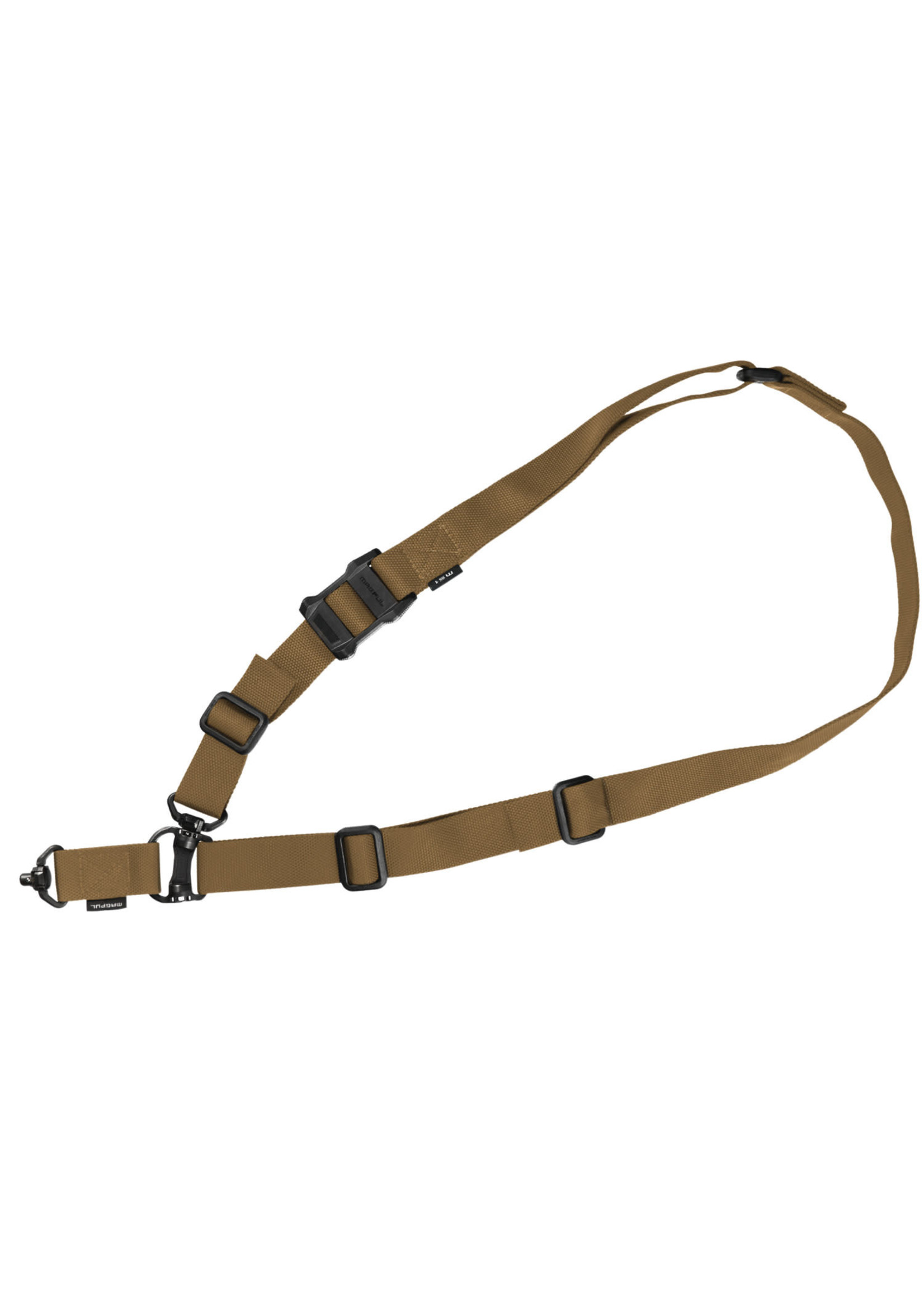 """Magpul Magpul MS4 QDM Sling 1.25"""" Adjustable Two-Point Coyote Nylon Webbing for Rifle"""