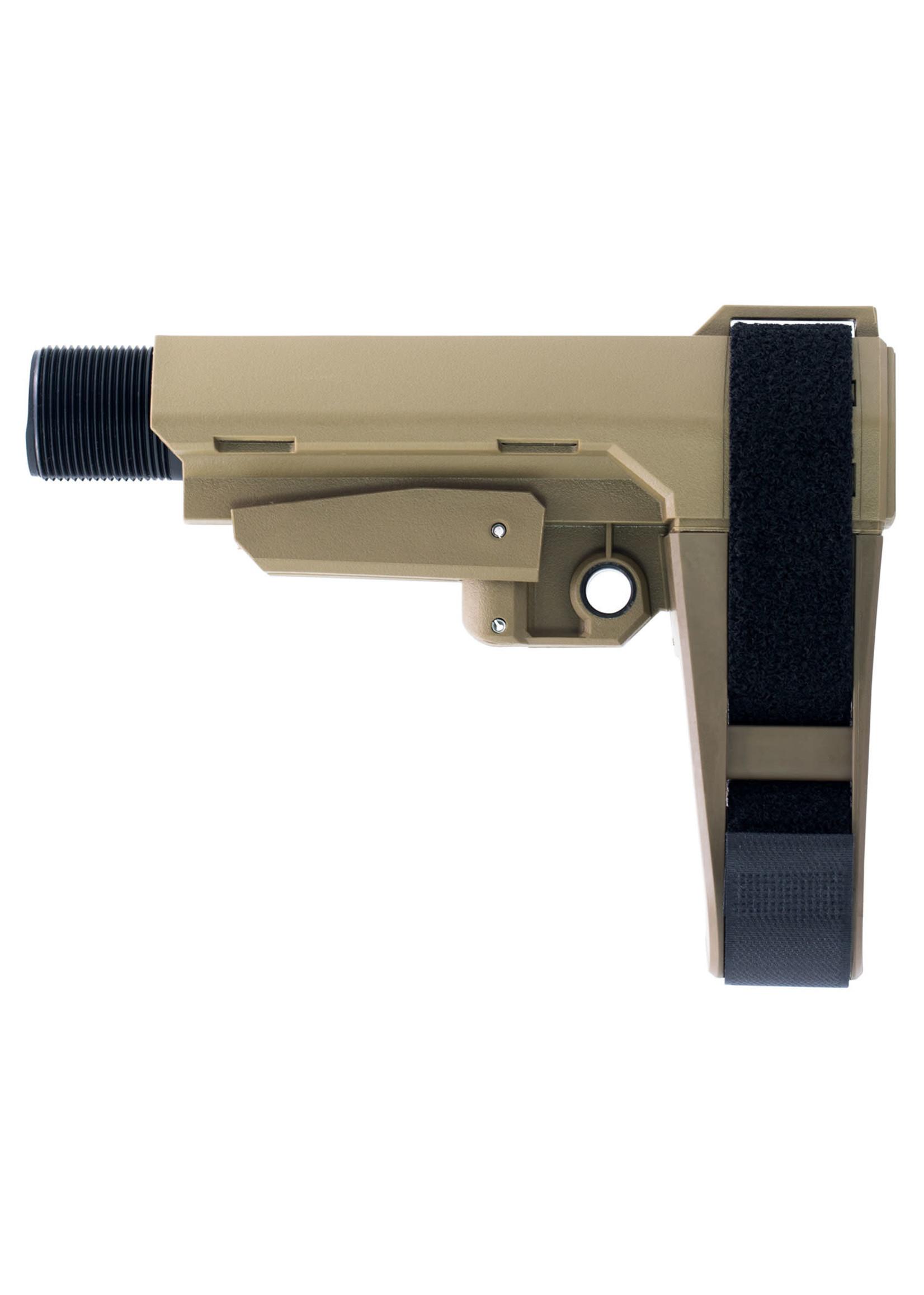 SB Tactical SB Tactical AR Brace SBA3 Flat Dark Earth Elasto-Polymer 6-Position Adjustable