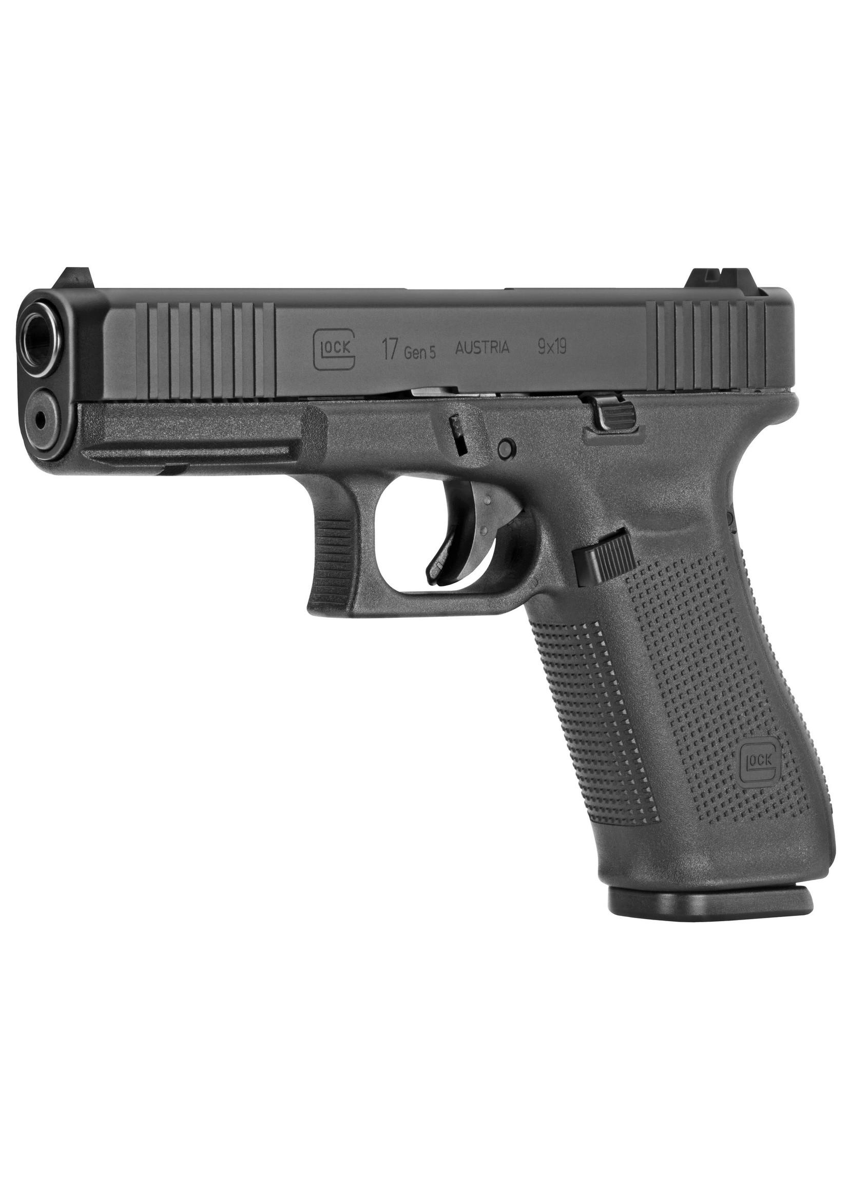 "Glock Glock 17 G5, 9MM, 4.49"" Marksman Barrel, Polymer Frame, Matte Finish, Fixed Sights, 17Rd, 3 Magazines"