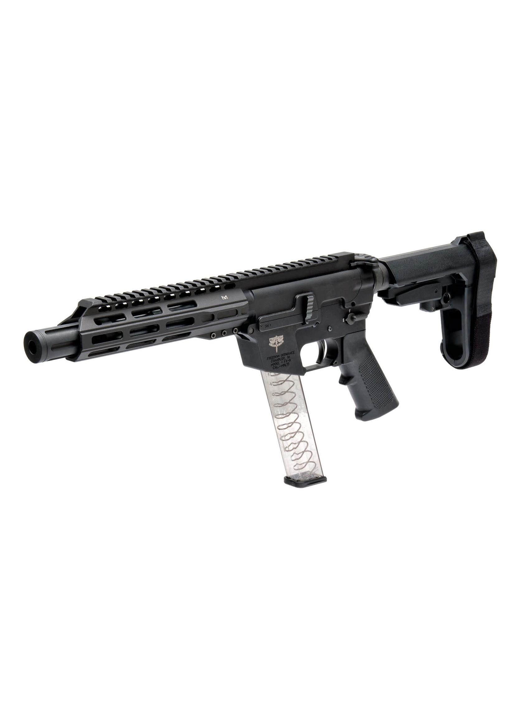 """Freedom Ordnance Freedom Ordnance FX-9P8S FX-9P8S 9mm Luger 8"""" 31+1 Black Anodized Black Polymer SBA3 Pistol Brace"""