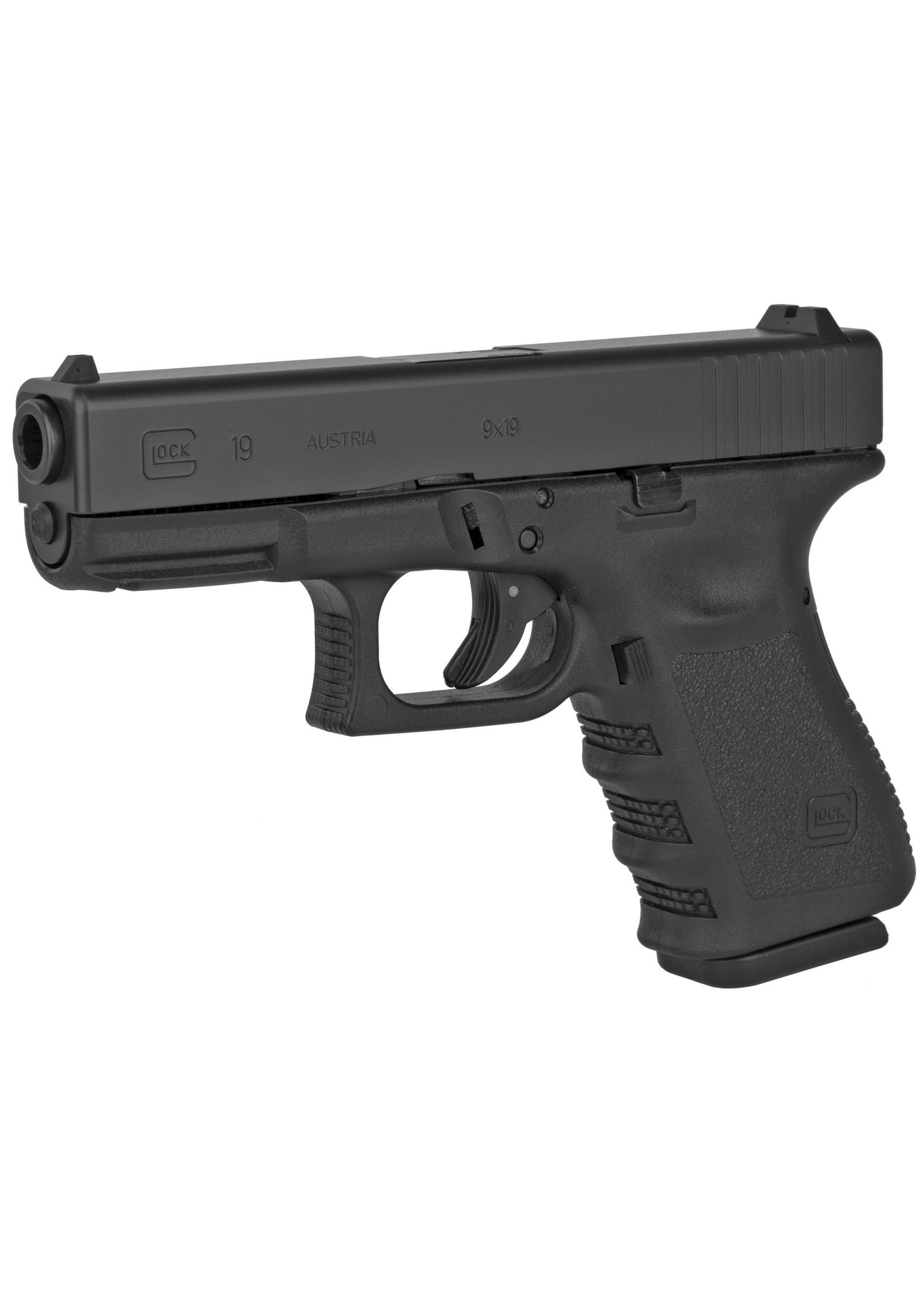 """Glock Glock 19 G3 9mm Luger 4.02"""" 15+1 Black Steel Slide Black Polymer Grip"""