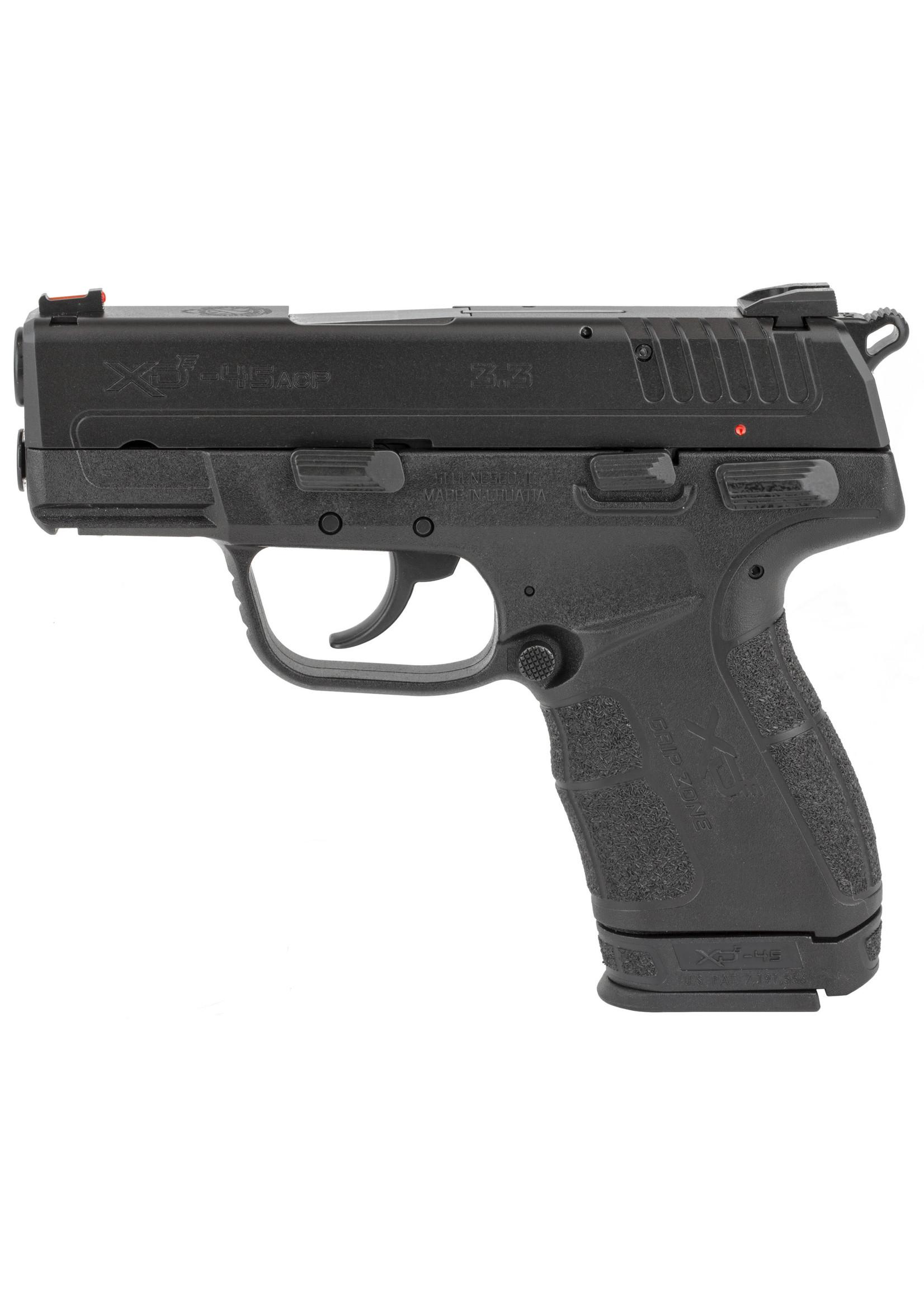 "Springfield Springfield Armory XDE 45 ACP, 3.30"", 7+1, Black, Melonite Steel Slide, Black Polymer Grip"