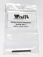 Wraith Precision Wraith Precision AR15 Lower Parts, Detent Pivot/Takedown Spring, Qty 1