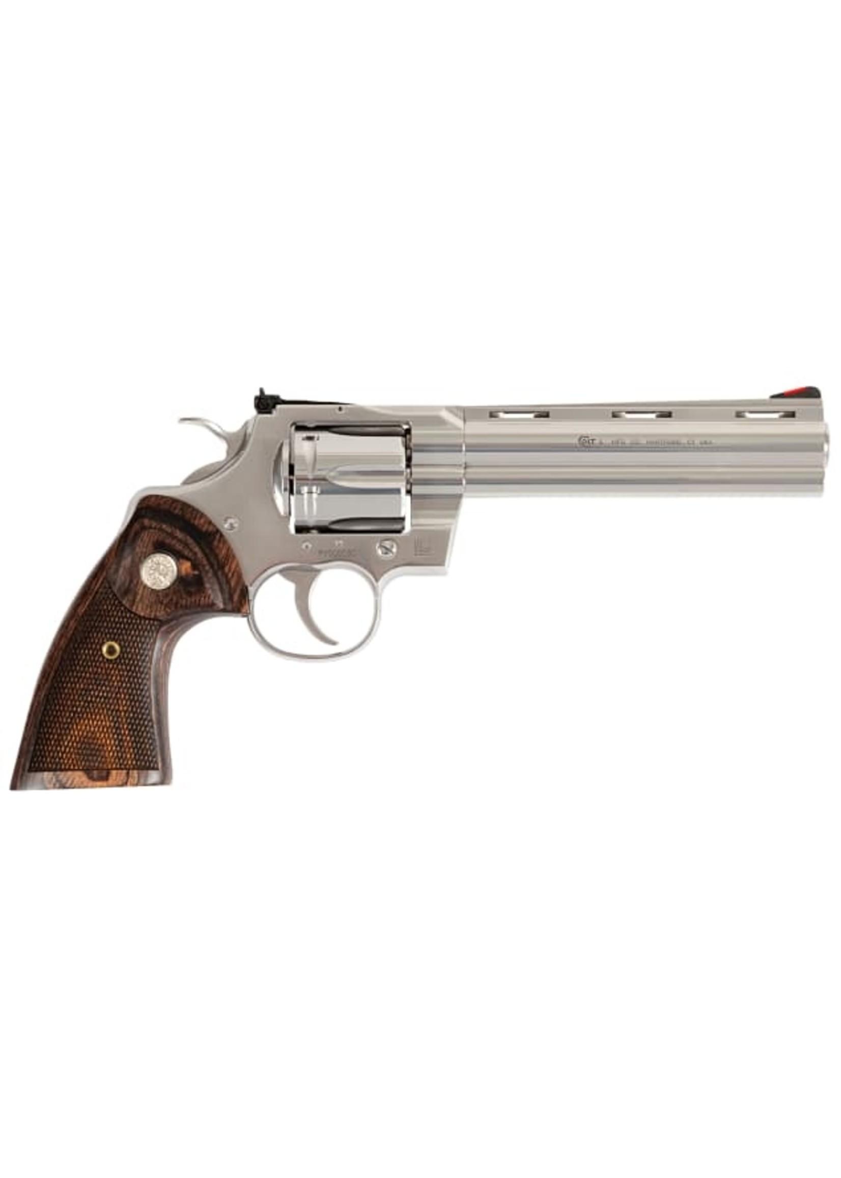 "Colt Colt Python  Revolver 357 MAG / 38 SPL, 6"" barrel, 6 Rd, Walnut Target Grip"