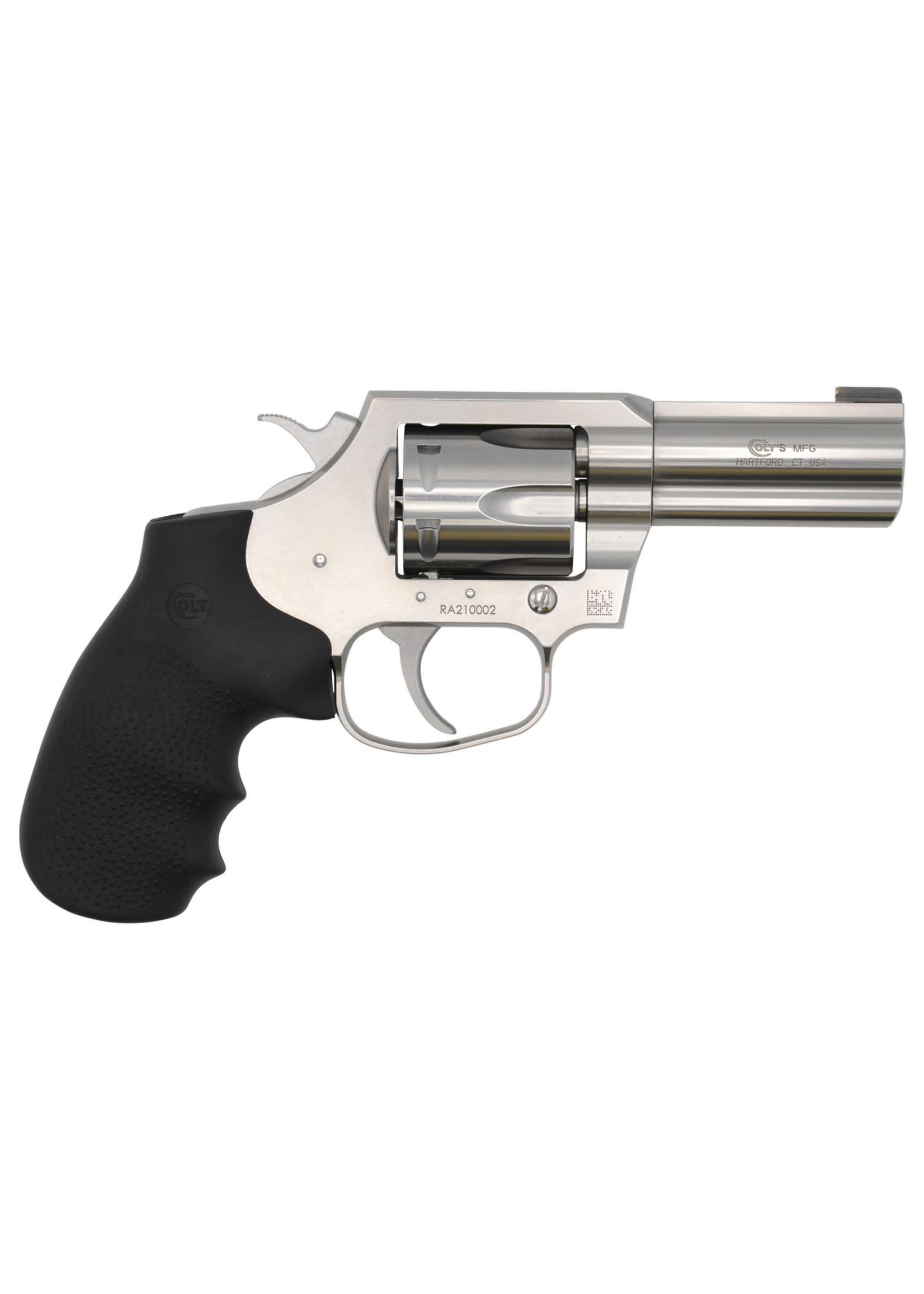 """Colt Colt King Cobra Revolver 357 Mag, 6rd, 3"""", brushed stainless, black Hogue grip"""