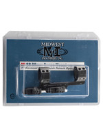 """Midwest Industries Midwest Industries, QD Scope Mount, 30mm, with 1.5"""" Offset, Black Finish"""