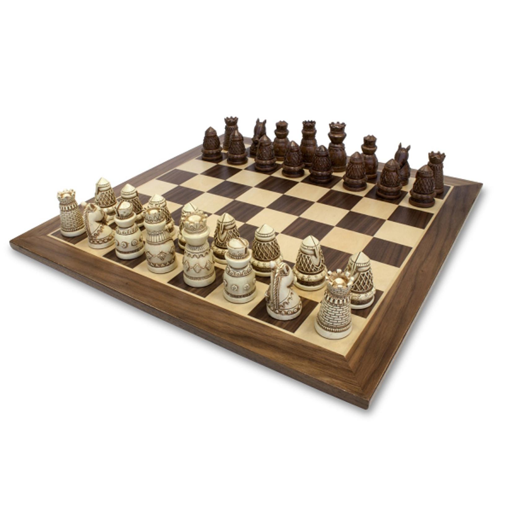Wood Expressions Jeu d'échecs Médiéval