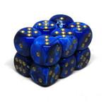 Chessex Brique 12 D6 Vortex Blue-Green/gold CHX27636