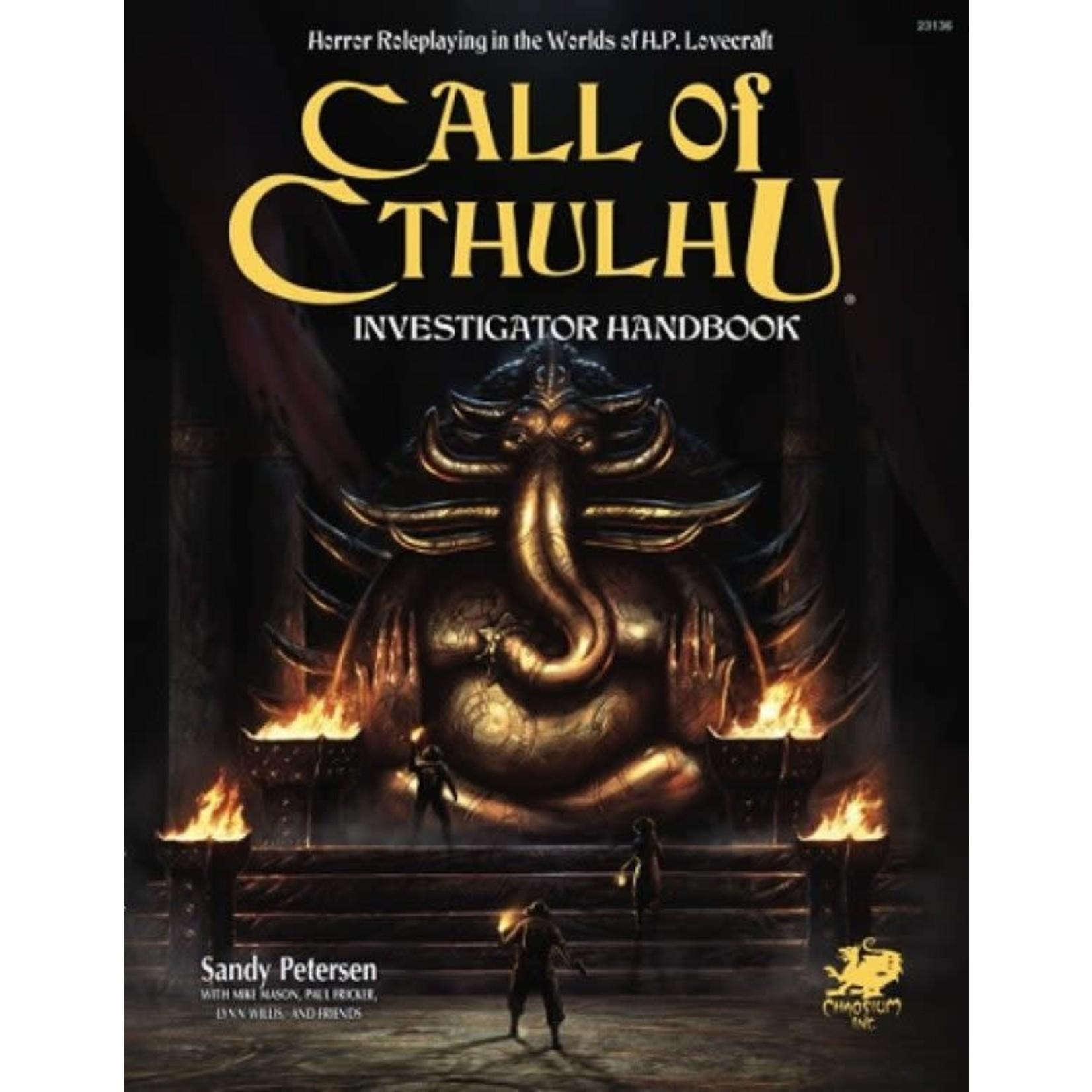 Chaosium Call of Cthulhu 7th Investigator (English)