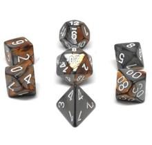 Set 7D Poly Gemini Copper-Steel/White