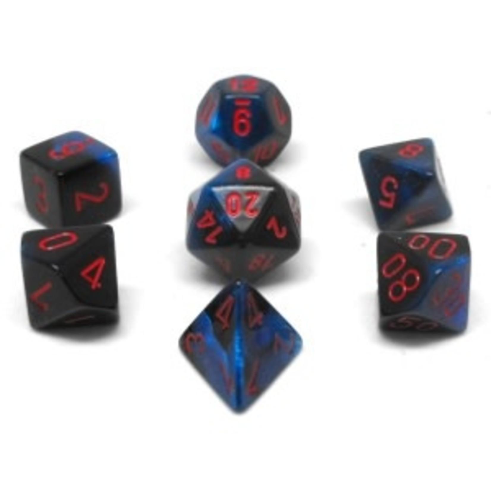 Chessex Set 7D Poly Gemini Black Starlight/Red