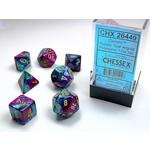 Chessex Set 7D Poly Gemini Purple-Teal/Gold