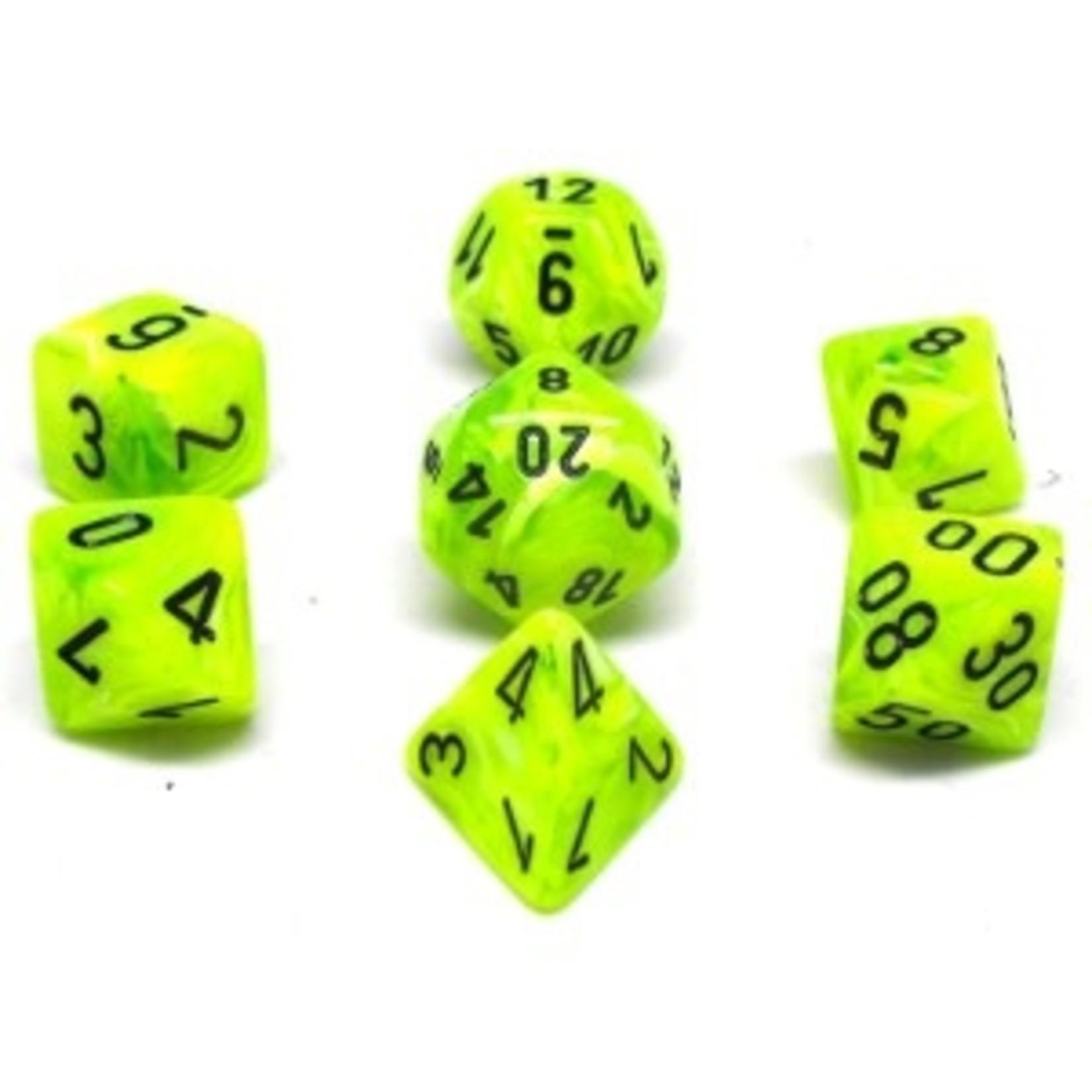 Chessex Set 7D Poly Vortex Bright Green/Black