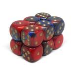 Chessex Brique 12 D6 Gemini Blue-Red/Gold