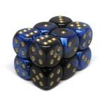 Chessex Brique 12 D6 Gemini Black-Blue/Gold