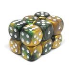 Chessex Brique 12D6 Gold-Green/white