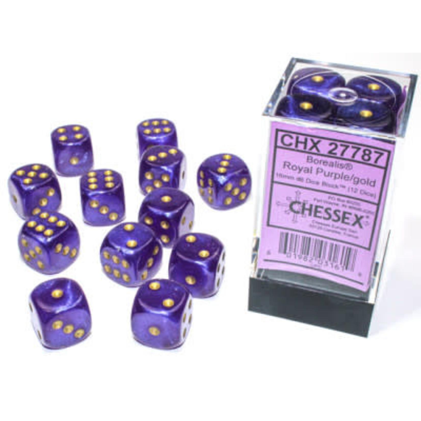 Chessex Ensemble de 12d6 16mm Borealis Lum