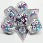 Metallic Dice Game Dés Bullus: Dégradé mauve / sarcelle / blanc