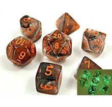 Lab Dice 7D Copper Matrix/Orange
