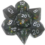 Metallic Dice Game Opale glace: Noir
