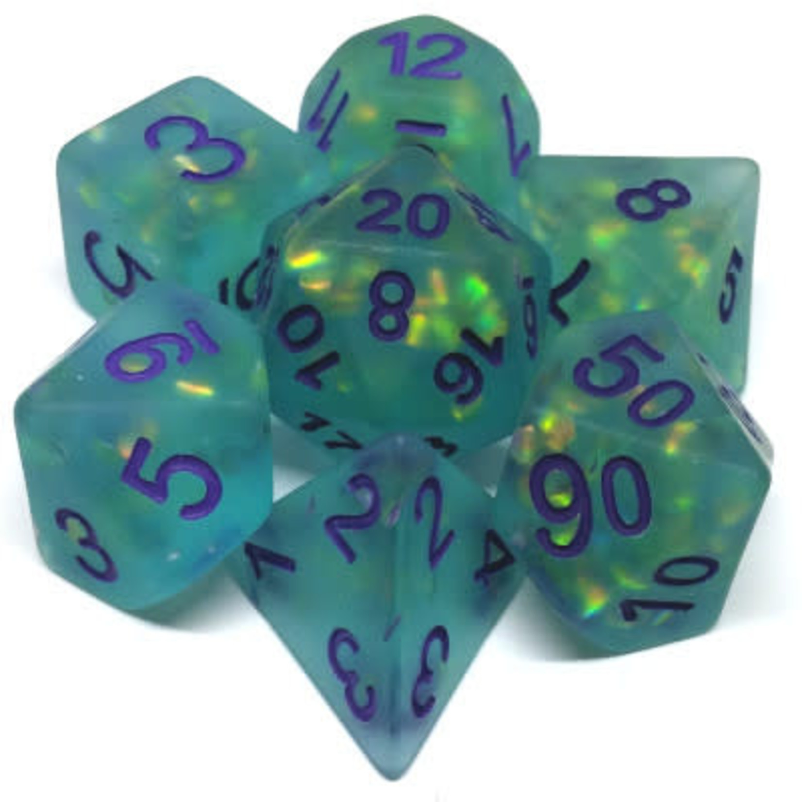 Metallic Dice Game Opale glace: Sarcelle