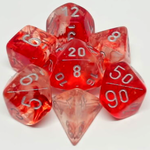 Chessex Set 7D Poly Nebula Red/Silver
