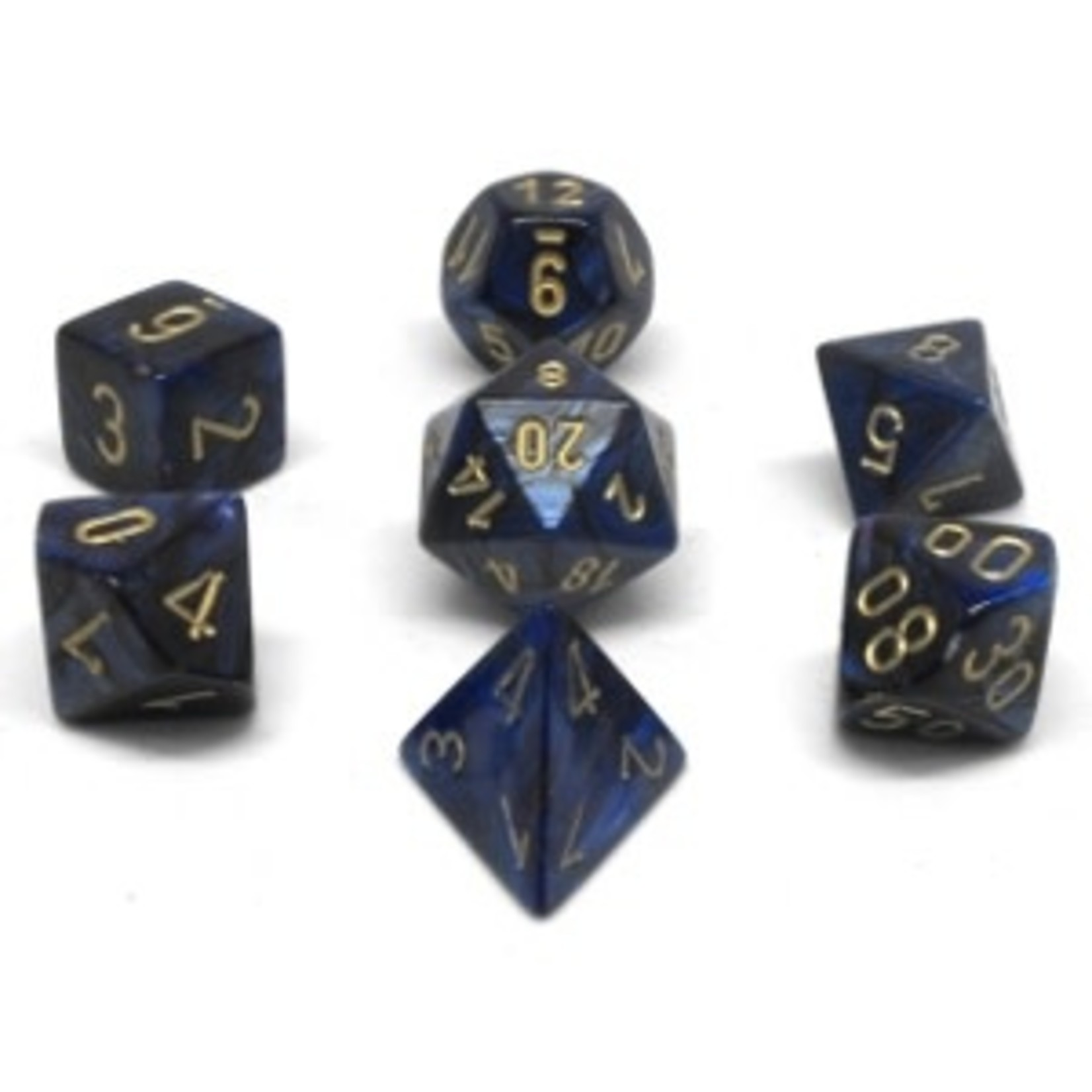 Chessex Set 7D Poly Scarab Royal Blue/Gold