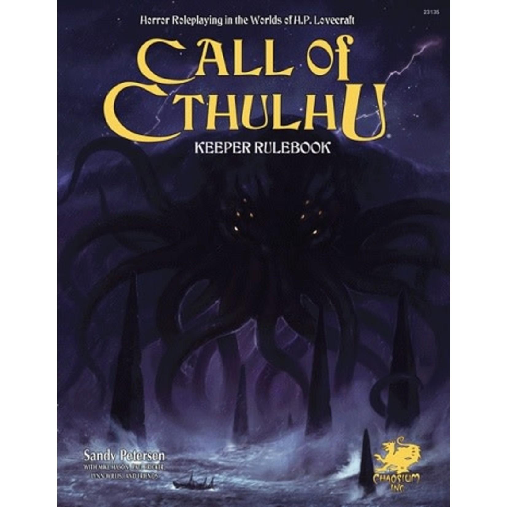 Chaosium Call of Cthulhu 7th Keeper Rulobook (Anglais)