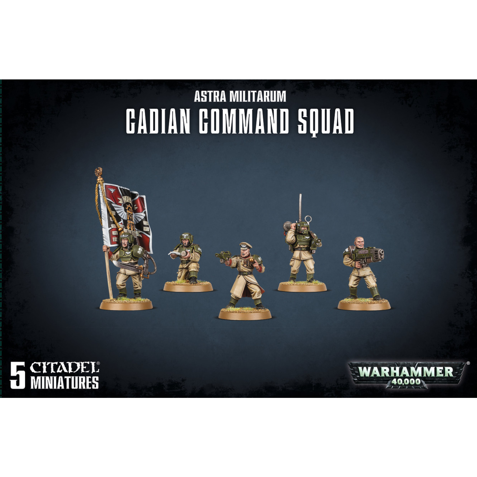 Warhammer 40K Astra Militarum - Cadian Command Squad