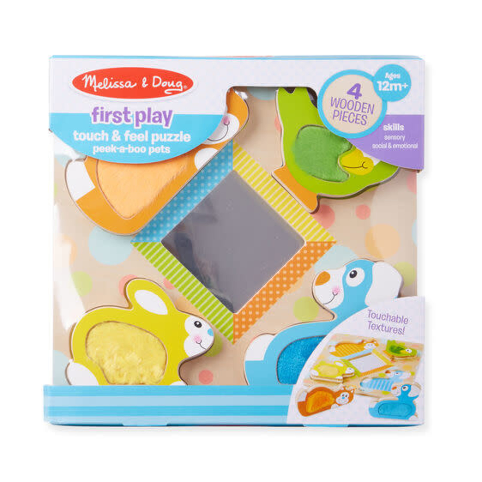 Melissa & Doug Touch and Feel Puzzle Pets