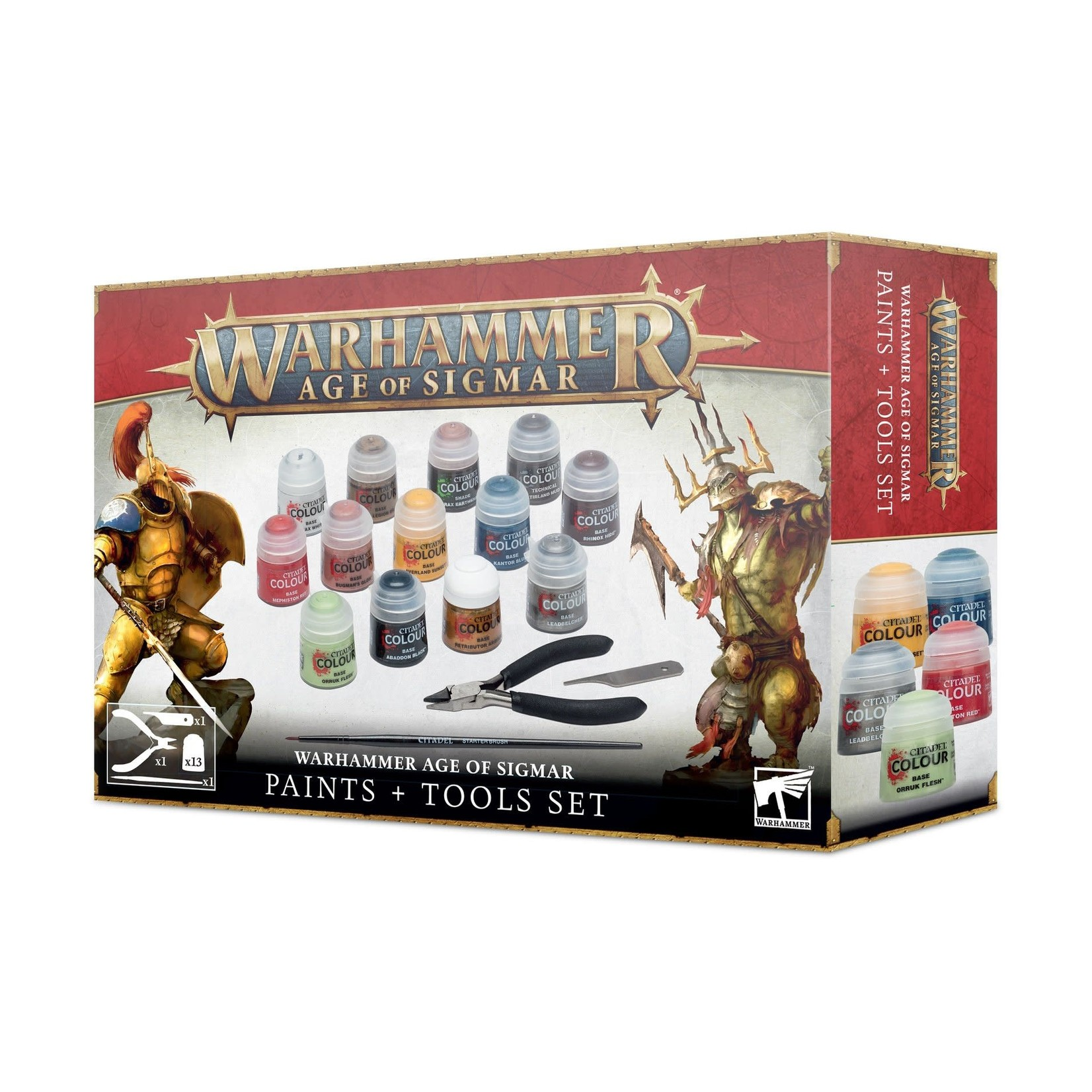Age of Sigmar Age of Sigmar Paints + Tools Set