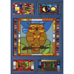 Owl in Stained Glass